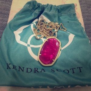 Kendra Scott Custom Rae Necklace - Fuschia